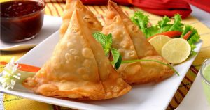 Decorative Samosa Photo