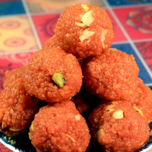 Orange Boondi Ladoo